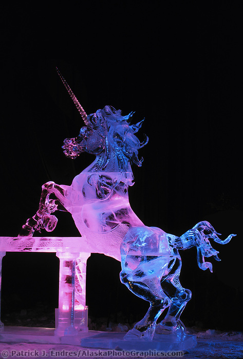 Ice sculpture, Pretender, World Ice Sculpting Competition, Fairbanks, Alaska