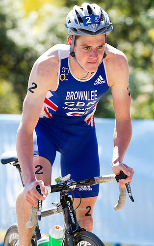04 JUN 2011 - MADRID, ESP - Jonathan Brownlee - Madrid round of triathlon's ITU World Championship Series  .(PHOTO (C) NIGEL FARROW)