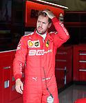 12.07.2019, Silverstone Circuit, Silverstone, FORMULA 1 ROLEX BRITISH GRAND PRIX 2019<br /> , im Bild<br />Ein ratloser Sebastian Vettel (GER#5), Scuderia Ferrari Mission Winnow<br /> <br /> Foto © nordphoto / Bratic