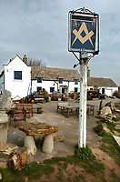 BNPS.co.uk (01202 558833)<br /> Pic: PhilYeomans/BNPS<br />  <br /> The Square & Compass pub in the village is regularly voted amongst the best in Britain.<br /> <br /> Nine discounted homes have been built in one of the worst areas of the country for affordable housing, bringing fresh hope to local first-time buyers.<br /> <br /> The properties are being offered for sale at 75 per cent of the market price with a strict covenant in place that they can only be sold locals.<br /> <br /> And when the time comes for the owners to sell them on, the asking price must also be 25 per cent less than their true value.<br /> <br /> The properties have been built in the so-called ghost village village of Worth Matravers on the picturesque Isle of Purbeck in Dorset.<br /> <br /> Sixty per cent of the 180 houses in the village belong to second homeowners and lay empty most of the time.