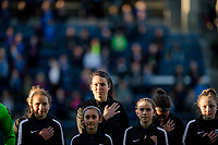 Seattle, WA - April 15th, 2017: Haley Kopmeyer during a regular season National Women's Soccer League (NWSL) match between the Seattle Reign FC and Sky Blue FC at Memorial Stadium.