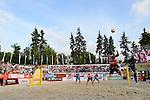 31.05.2015, Moskau, Vodny Stadion<br /> Moskau Grand Slam, Main Draw / Finale<br /> <br /> Aufschlag / Service Adrian Gavira (#2 ESP)<br /> <br />   Foto © nordphoto / Kurth