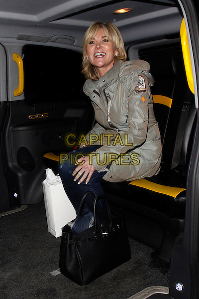 LONDON, ENGLAND - OCTOBER 29 :  Anthea Turner leaves the REVIV - launch party at 41 Portland Place on October 29, 2014 in London, England.<br /> CAP/AH<br /> &copy;Adam Houghton/Capital Pictures