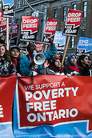 Scenes from the 'Drop Fees' demonstration at Ryerson University, part of the province-wide 'Poverty Free Ontario' day of action held November 5, 2009.