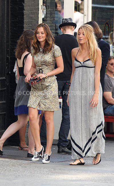 WWW.ACEPIXS.COM . . . . .  ....July 9 2009, New York City....Actors Leighton Meester and Blake Lively on the set of the TV show Gossip Girl in Soho on July 9 2009 in New York City....Please byline: AJ Sokalner - ACEPIXS.COM..... *** ***..Ace Pictures, Inc:  ..tel: (212) 243 8787..e-mail: info@acepixs.com..web: http://www.acepixs.com