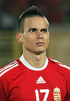 Hungary's Adras Gosztonyi (17)  stands on the field before the match against Italy during the FIFA Under 20 World Cup Quarter-final match at the Mubarak Stadium  in Suez, Egypt, on October 09, 2009. Hungary won 2-3 in overtime.