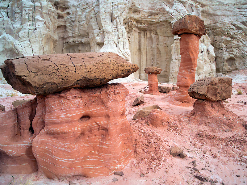 Hodoos at Toadstool formation in Escalante Staircase National Monument, Utah