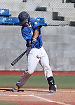 Wildcats' Brandon Lapointe hits against Colorado Northwestern at Western Nevada College, in Carson City, Nev., on Friday, March 13, 2015. <br /> Photo by Cathleen Allison