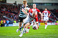 Picture by Alex Whitehead/SWpix.com - 01/05/2014 - Rugby League - First Utility Super League - St Helens v London Broncos - Langtree Park, St Helens, England - St Helens' Luke Walsh scores a try.