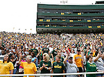 Baylor Bears fans fill the stadium during the game between the Stephen F. Austin Lumberjacks and the Baylor Bears at the Floyd Casey Stadium in Waco, Texas. Baylor defeats SFA 48 to 0.