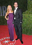 Jon Hamm & Jennifer Westfeldt at The 2009 Vanity Fair Oscar Party held at The Sunset Tower Hotel in West Hollywood, California on February 22,2009                                                                                      Copyright 2009 RockinExposures / NYDN