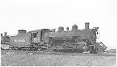 3/4 engineer side view of K-37 #494 at Gunnison.<br /> D&amp;RGW  Gunnison, CO  Taken by Richardson, Robert W. - 9/17/1946