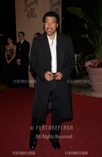 Singer LIONEL RITCHIE at pre-Grammy party given by Clive Davis of J Records at the Beverly Hills Hotel..25FEB2002  © Paul Smith / Featureflash