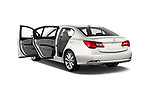 Car images close up view of 2017 Acura RLX Sport Hybrid 4 Door Sedan doors