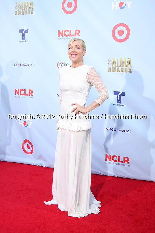 LOS ANGELES - SEP 16:  Jennifer Aspen arrives at the 2012 ALMA Awards at Pasadena Civic Auditorium on September 16, 2012 in Pasadena, CA