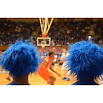 Two peas in a pod, two #Crazies in #CameronIndoor. #CameronCrazies #duke360 #DukeBasketball. Photo by Bryan Roth, senior writer/producer, Office of Communication Services.