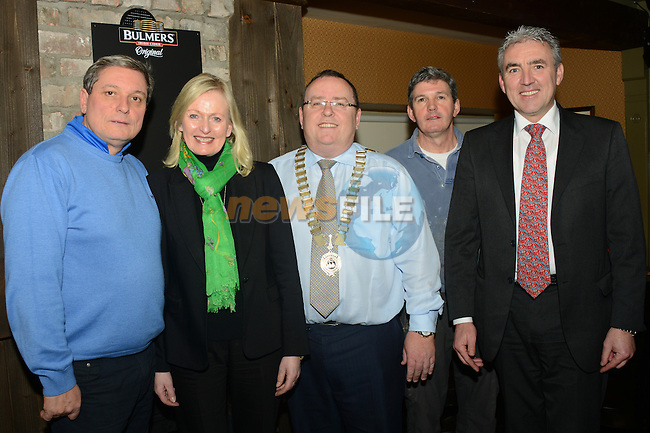 Brian Browning, Jennifer Berry, Simon McCormack of Drogheda Chamber, Gerry Browning and Eugene Berry at the preview night at Donaghy's. www.newsfile.ie