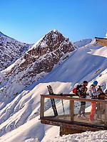 Terrasse SunOrama bei Bergstation Alpjoch, Ski-Gebiet Hochimst, Ski-Gebiet Hochimst bei Imst, Tirol, Österreich, Europa<br /> sun terrace, hillstation Alpjoch, skiing area Hochimst, Imst, Tyrol, Austria, Europe