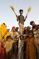 Caste of broom makers - Rajasthan, India