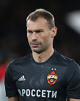 CSKA Moscow's Vasili Berezutski<br /> <br /> Photographer Rob Newell/CameraSport<br /> <br /> UEFA Europa League Quarter-Final First Leg - Arsenal v CSKA Moscow - Thursday 5th April 2018 - The Emirates - London<br />  <br /> World Copyright &copy; 2018 CameraSport. All rights reserved. 43 Linden Ave. Countesthorpe. Leicester. England. LE8 5PG - Tel: +44 (0) 116 277 4147 - admin@camerasport.com - www.camerasport.com