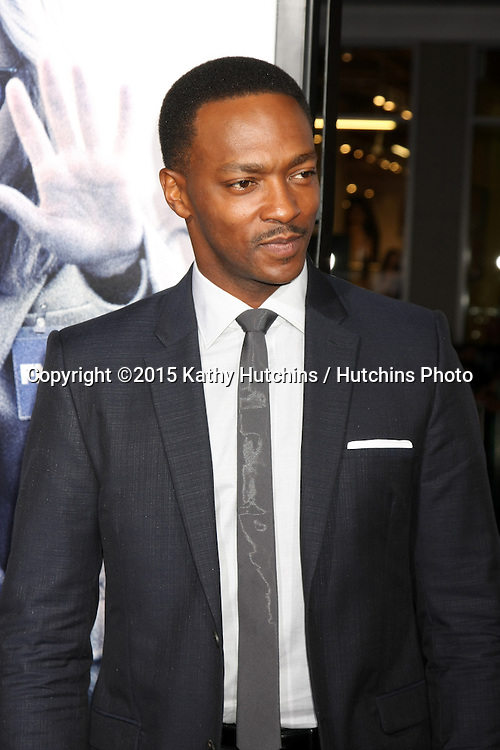 "LOS ANGELES - OCT 26:  Anthony Mackie at the ""Our Brand is Crisis"" LA Premiere at the TCL Chinese Theater on October 26, 2015 in Los Angeles, CA"