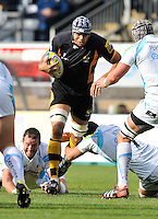 High Wycombe, England. Marco Wentzel of London Wasps in action during the Aviva Premiership match between London Wasps and Worcester Warriors at Adam Park on October 7, 2012 in High Wycombe, England.