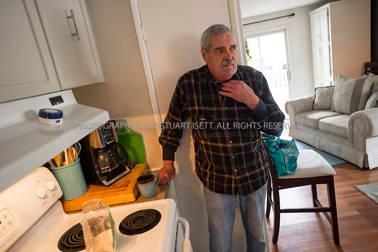 Arlington, WA - April 22, 2014: Ted Goff,&nbsp;73, in his home in Arlington Washington where he lives with his wife Linda. Here Mr. Goff prepares himself a cup of coffee. A longtime smoker, he has stage 4 emphysema and was told by his doctors he has about six months to live (May is six months). He only has 24 percent oxygen in one lung and 8 percent in the other lung, not enough to be life-sustaining. <br /> &nbsp; &nbsp; <br /> About five years ago, the couple filled out an advanced directive at the suggestion of his doctor. But they didn't really understand any of the terms. When the pulmonologist gave Ted the prognosis last year, and asked whether Ted wanted to be on a ventilator, he suggested they see a video that would explain what that involved. After watching it, the Goffs realized they did not want him to be on a ventilator, or to be resusitated, or to receive any kind of intervention to sustain his life.<br /> <br /> (Photo by Stuart Isett for The Washington Post)