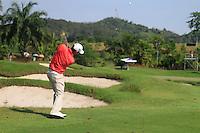 Padraig Harrington (IRL) plays his 2nd shot on the 10th hole during Sundays Final Round 3 of the 54 hole Iskandar Johor Open 2011 at the Horizon Hills Golf Resort Johor, Malaysia, 19th November 2011 (Photo Eoin Clarke/www.golffile.ie)
