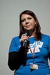 Anna Rose speaks at the Conference of Youth, COP 15, Denmark (©Robert vanWaarden