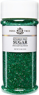 10203 Emerald City Green Sparkling Sugar, Tall Jar 7.5 oz, India Tree Storefront