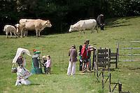"""Europe/France/Aquitaine/40/Landes/ Donzacq: Parcours de découverte de la vie à la ferme  - Ferme""""Leplace"""""""