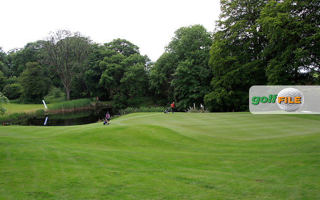 The 13th green during Round 2 of the Irish Mid-Amateur Open Championship at New Forest on Saturday 20th June 2015.<br /> Picture:  Thos Caffrey / www.golffile.ie