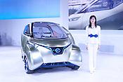 Nissan's Pivo3 demonstrates its remarkable turning circle at the annual Nagoya Motor Show.