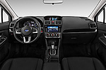 Stock photo of straight dashboard view of a 2017 Subaru XV Premium 5 Door SUV