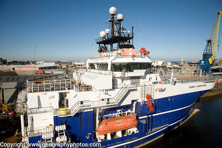 Bibby Sapphire ship, Port harbour, Aberdeen, Scotland