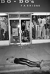 Toxteth Liverpool riots. July 1981. Do Do's Fashions store.
