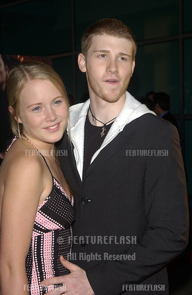 Actor BEN FOSTER & girlfriend SALLY MARTIN at the Los Angeles premiere of his new movie The Punisher..April 12, 2004