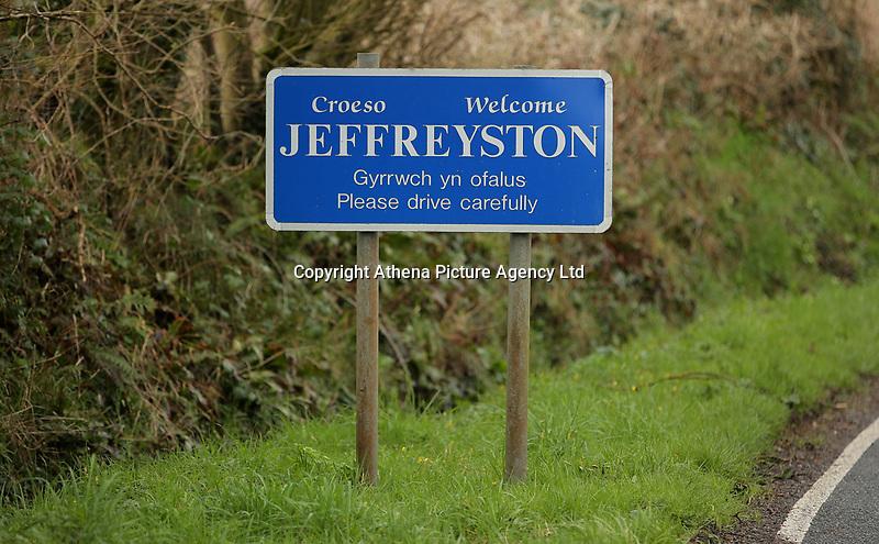 The village of Jeffreyston, Pembrokeshire, Wales, UK. Thursday 16 March 2017