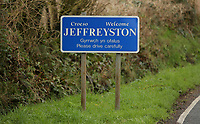 The village of Jeffreyston, Pembrokeshire, Wales, UK. Thursday 16 March 2017