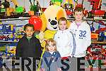 EASTER FUN: Having great fun at the Easter party at Caball's Toymaster, Tralee on Saturday l-r: Fionn Dairo, Chloe O'Sullivan, Conor O'Sullivan and Brendan Maurice...
