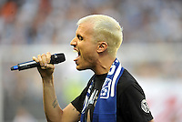 Sporting Park, Kansas City, Kansas, July 31 2013:<br /> National Anthem sang by Tyler Glenn of Neon Trees.<br /> MLS All-Stars were defeated 3-1 by AS Roma at Sporting Park, Kansas City, KS in the 2013 AT & T All-Star game.