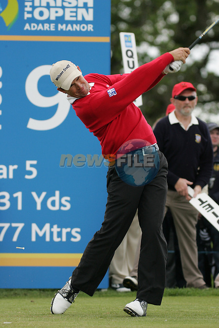 Padraig Harrington drives off on the 9th hole during the final round of the Irish Open on 20th of May 2007 at the Adare Manor Hotel & Golf Resort, Co. Limerick, Ireland. (Photo by Eoin Clarke/NEWSFILE).