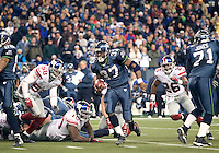Seattle Seahawks running back Shaun Alexander breaks loose for a first down during overtime against the New York Giants at Quest Field in Seattle, WA.