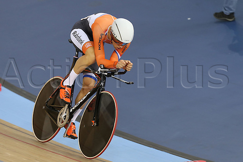 04.03.2016. Lee valley Velo Centre. London England. UCI Track Cycling World Championships Mens Omnium qualifications races. VELDT Tim (NED)