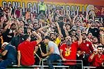 10.10.2018, ratiopharm arena, Neu-Ulm, GER, EC, rathiopharm ulm vs Galatasaray Istanbul, im Bild stimmgewaltige Fans von Galatasaray Istanbul<br /> <br /> Foto &copy; nordphoto / Hafner