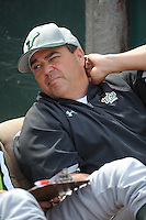 University of South Florida Bulls manager Lelo Prado before a game against the Temple University Owls at Campbell's Field on April 13, 2014 in Camden, New Jersey. USF defeated Temple 6-3.  (Tomasso DeRosa/ Four Seam Images)