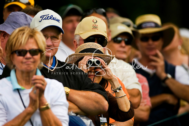 Golf fans watch the action during the Quail Hollow Championship golf tournament 2009. The event, formerly called the Wachovia Championship, is a top event on the PGA Tour, attracting such popular golf icons as Tiger Woods, Vijay Singh and Bubba Watson. Photo from the second round in the Quail Hollow Championship golf tournament at the Quail Hollow Club in Charlotte, N.C., Friday, May 01, 2009.