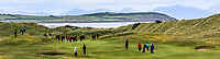 Pat Murray (Clontarf) and Colm Campbell Jnr (Warrenpoint) walking down the 13th fairway with Clogherhead and the Cooley mountains in the background during Round 4 of The East of Ireland Amateur Open Championship in Co. Louth Golf Club, Baltray on Monday 3rd June 2019.<br /> <br /> Picture:  Thos Caffrey / www.golffile.ie<br /> <br /> All photos usage must carry mandatory copyright credit (© Golffile | Thos Caffrey)
