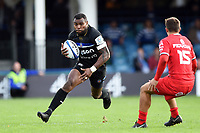 Semesa Rokoduguni of Bath Rugby in possession. Heineken Champions Cup match, between Bath Rugby and Stade Toulousain on October 13, 2018 at the Recreation Ground in Bath, England. Photo by: Patrick Khachfe / Onside Images