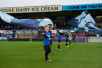 Wycombe Wanderers flag wavers before the Carabao Cup match between Wycombe Wanderers and Fulham at Adams Park, High Wycombe, England on 8 August 2017. Photo by Alan  Stanford / PRiME Media Images.